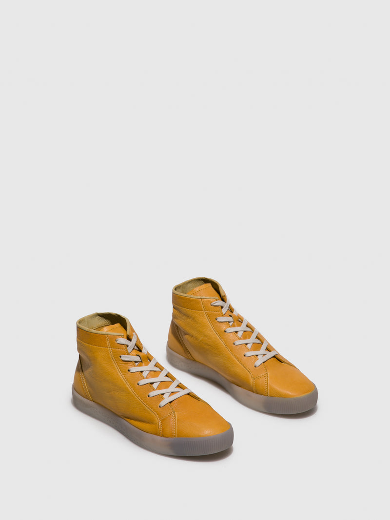 SOFTINOS Lace-up Ankle Boots SALI583SOF Yellow