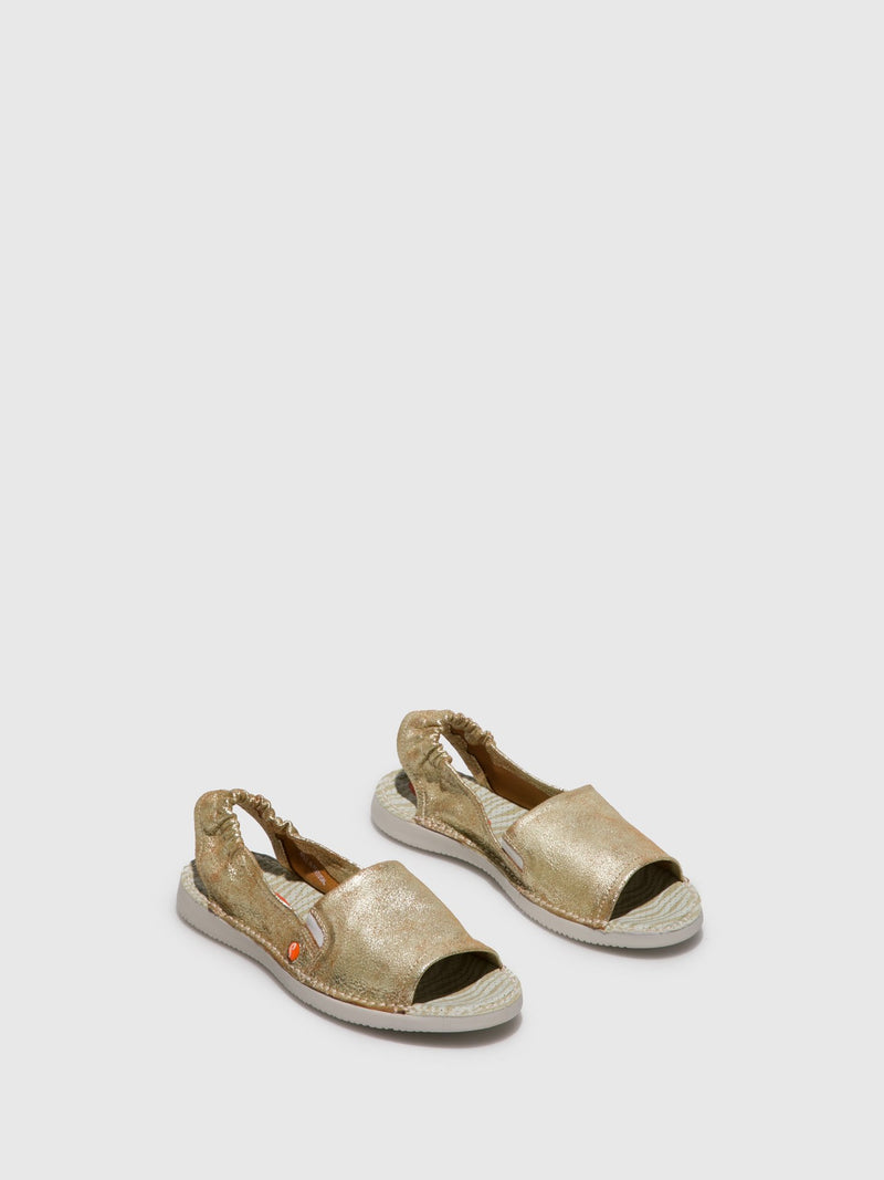SOFTINOS Sling-Back Sandals TEE430SOF Gold