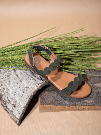 Sotoalto Green Sling-Back Sandals