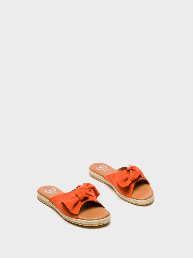 Sotoalto Orange Embellished Mules