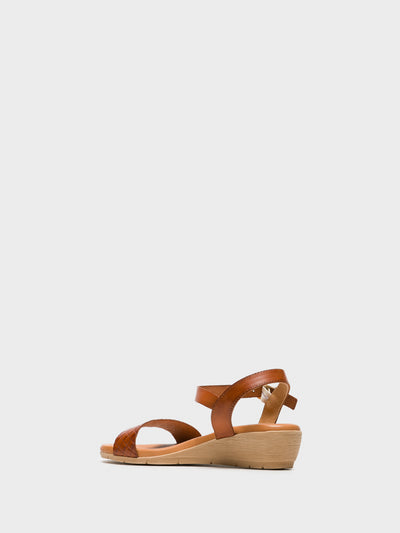 Sotoalto Brown Sling-Back Sandals
