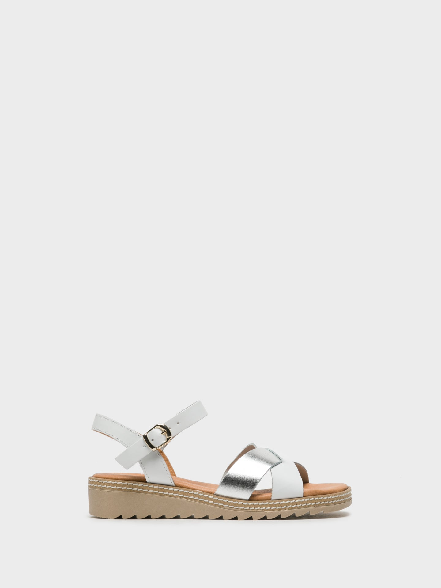 Sotoalto White Buckle Sandals