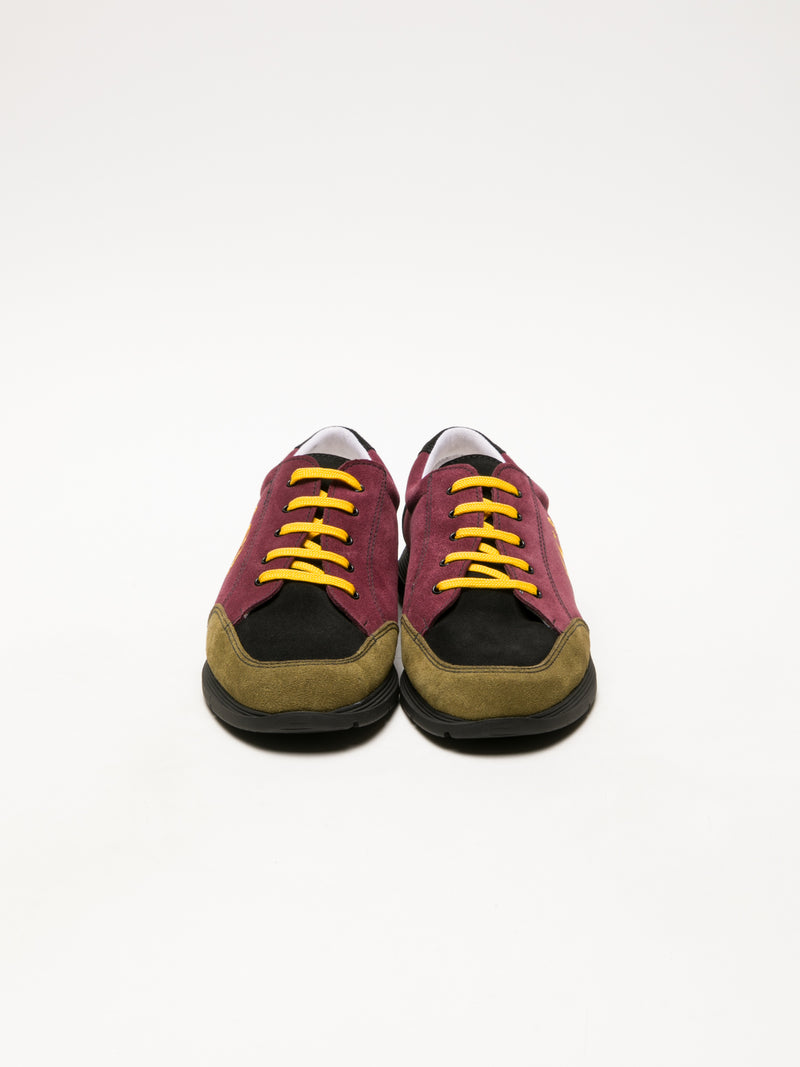Sotoalto DarkRed Lace-up Trainers