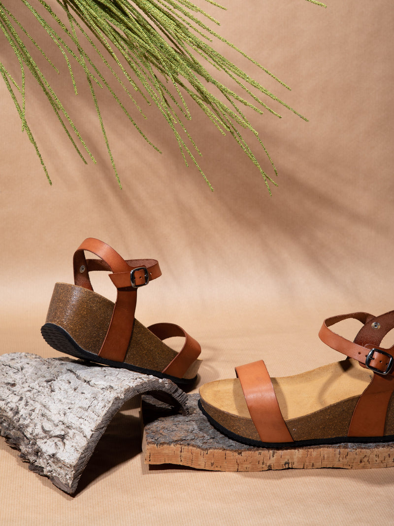 Sotoalto Brown Wedge Sandals