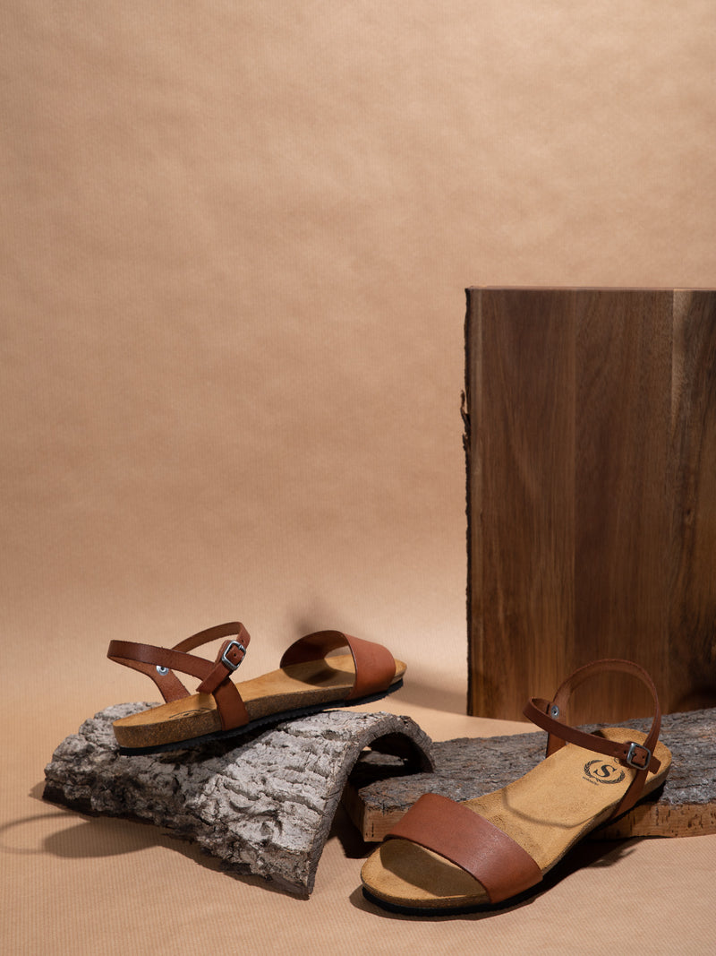 Sotoalto Brown Buckle Sandals