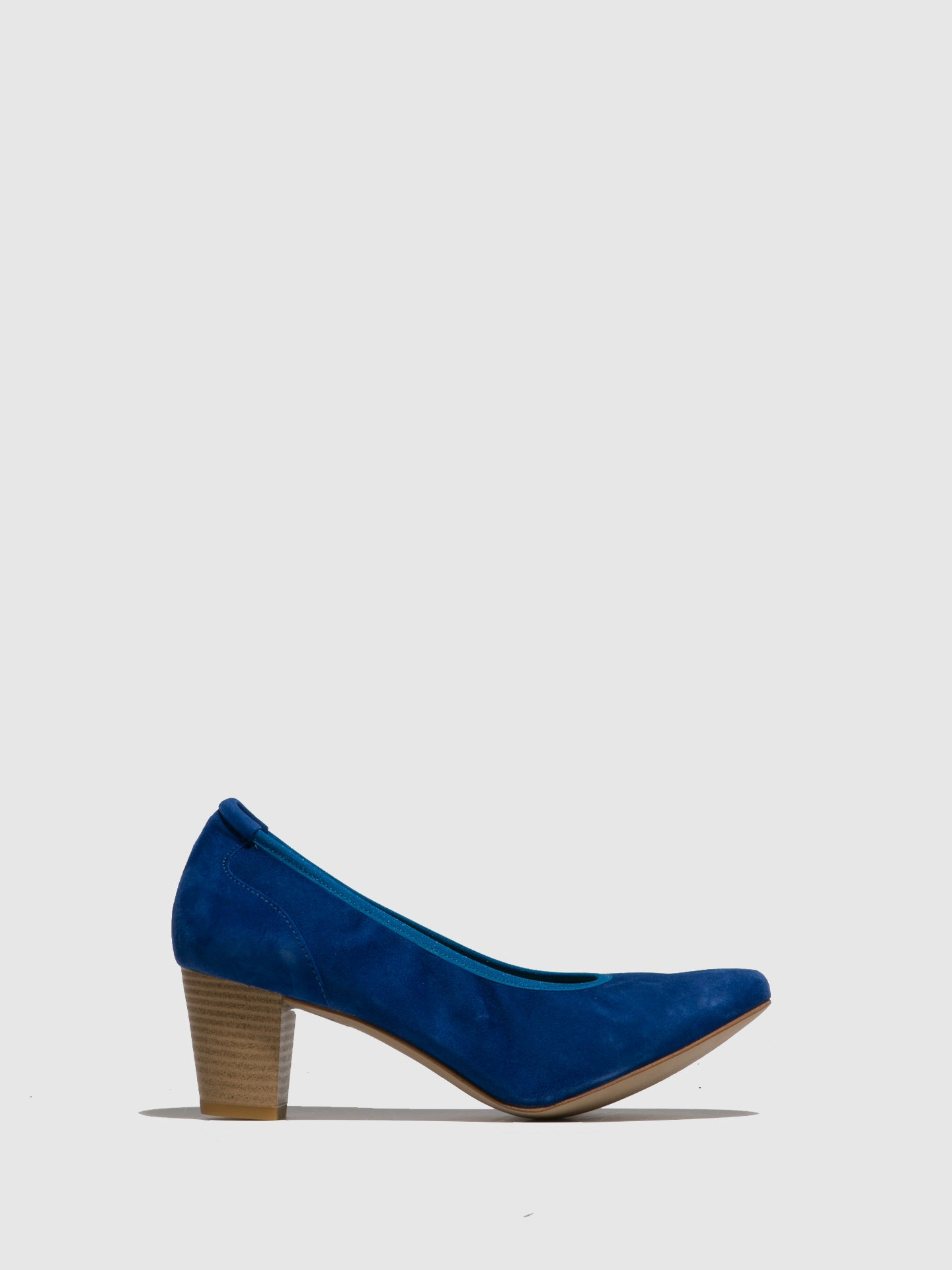 Perlato Blue Suede Round Toe Shoes