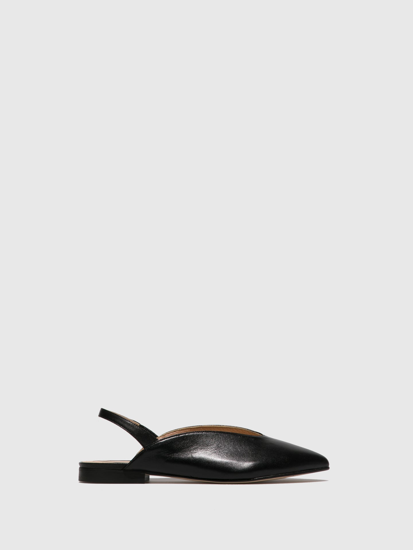 Sofia Costa Black Pointed Toe Shoes