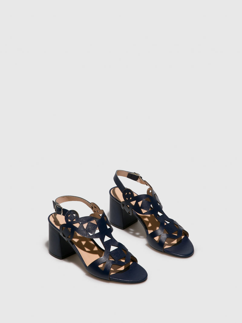 Sofia Costa Navy Sling-Back Pumps Sandals