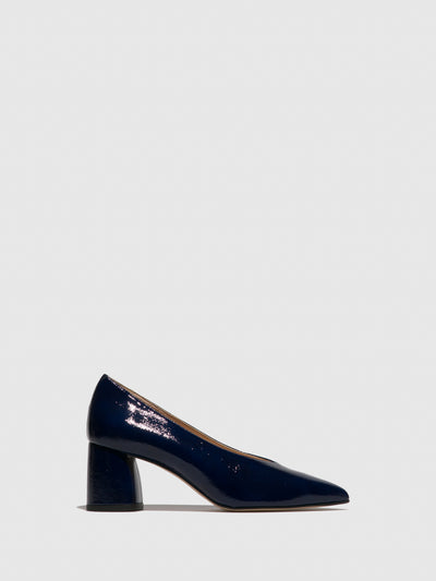 Sofia Costa Navy Pointed Toe Shoes