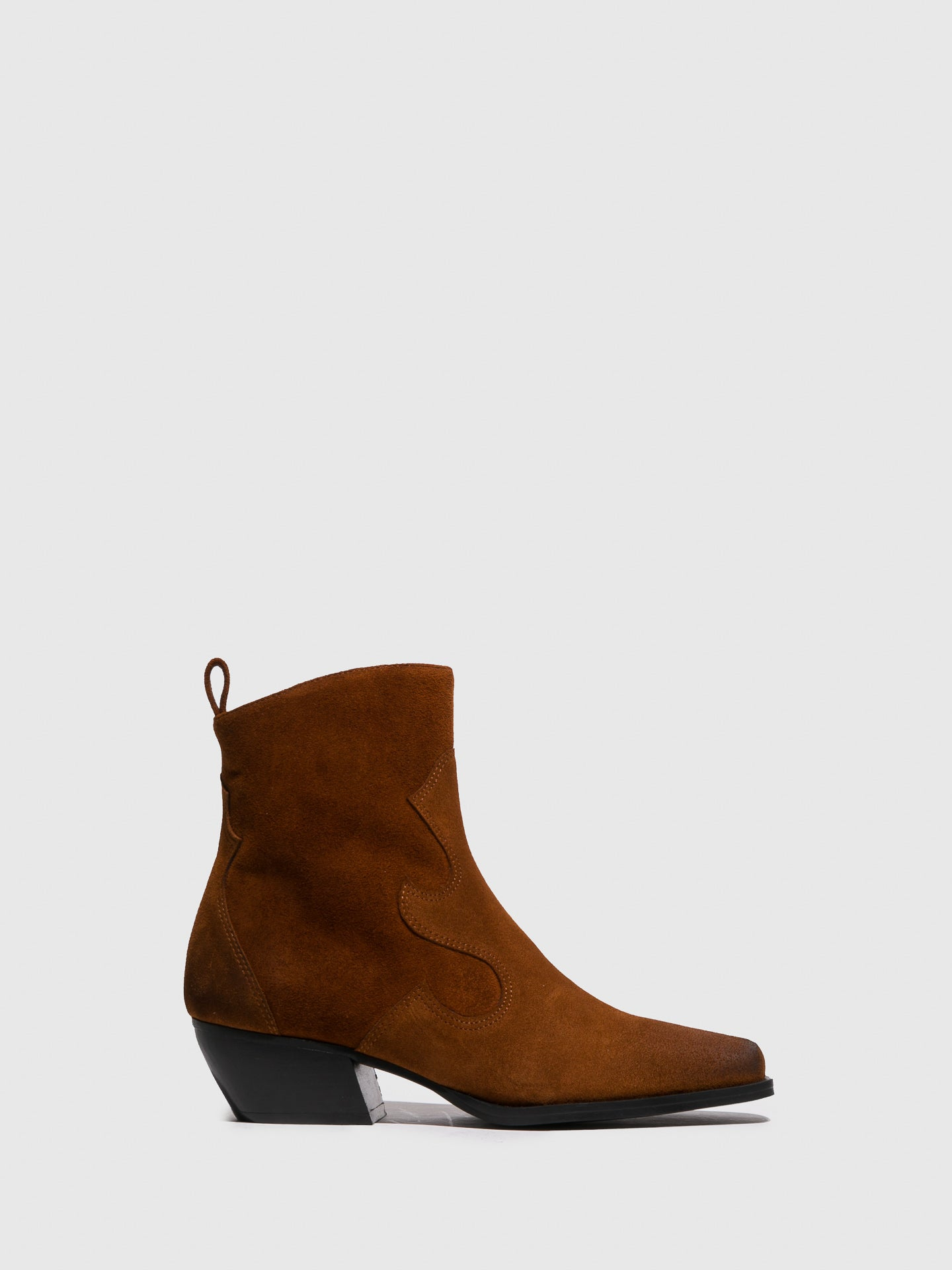 Sofia Costa Camel Zip Up Ankle Boots