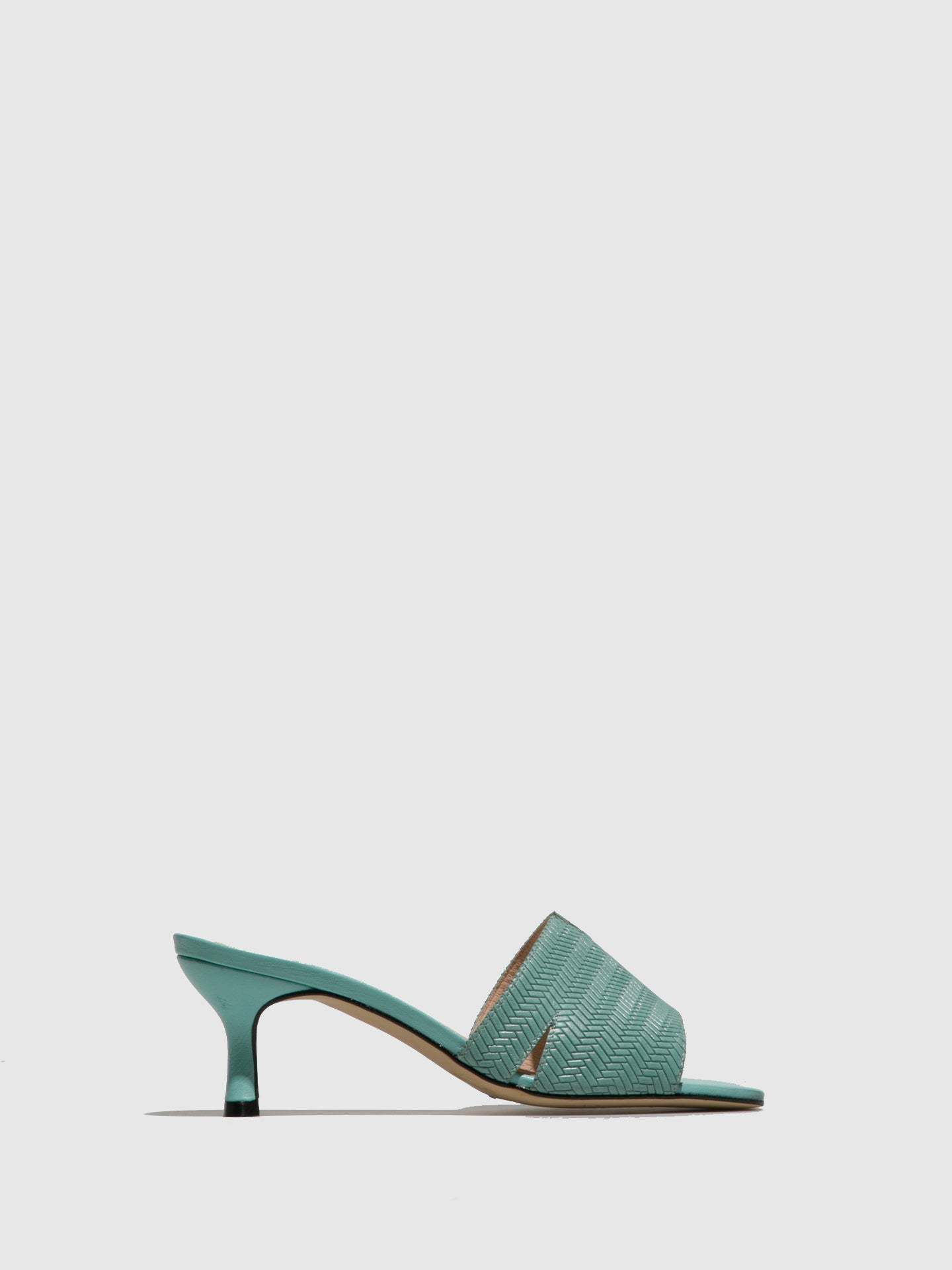 Sofia Costa Green Kitten Heel Mules