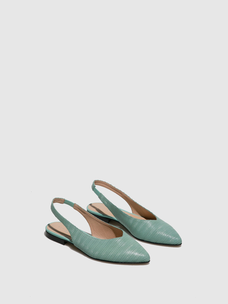 Sofia Costa Green Sling-Back Sandals