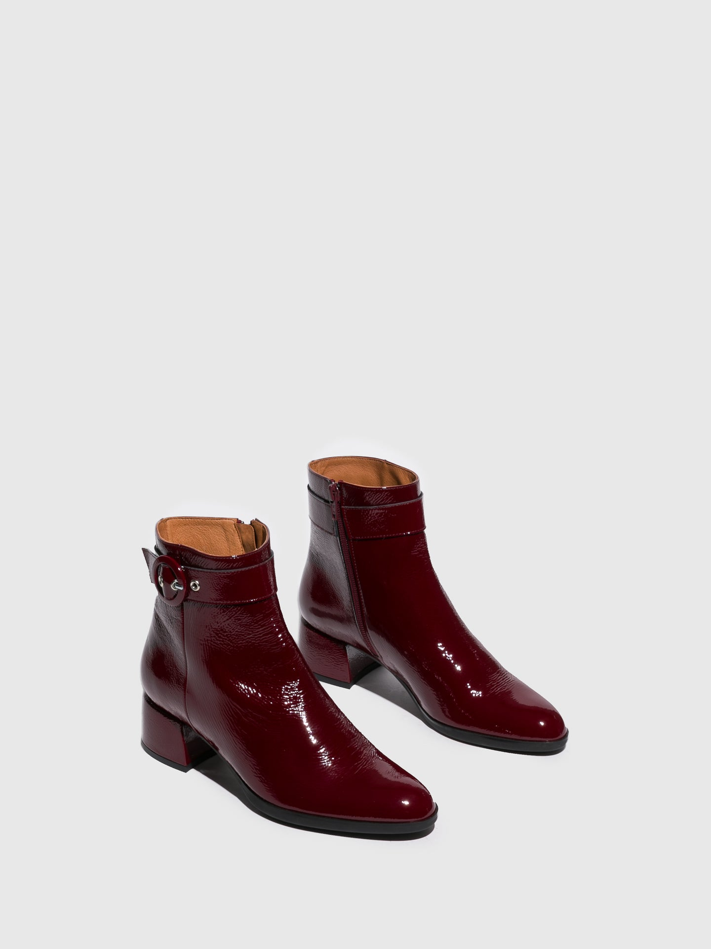 Sofia Costa Crimson Zip Up Ankle Boots