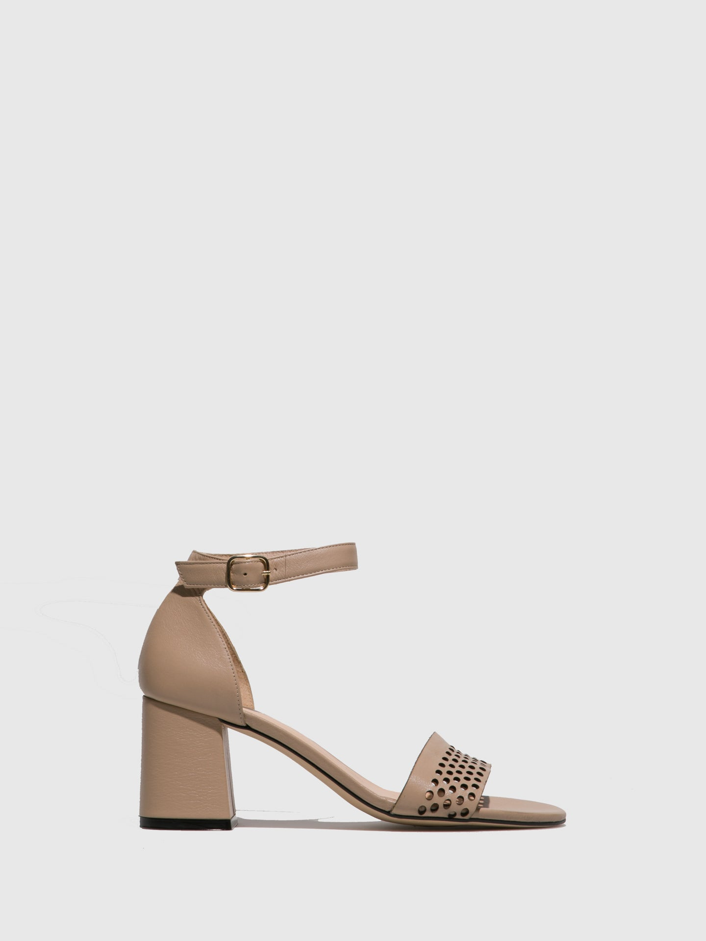 Sofia Costa Beige Ankle Strap Sandals