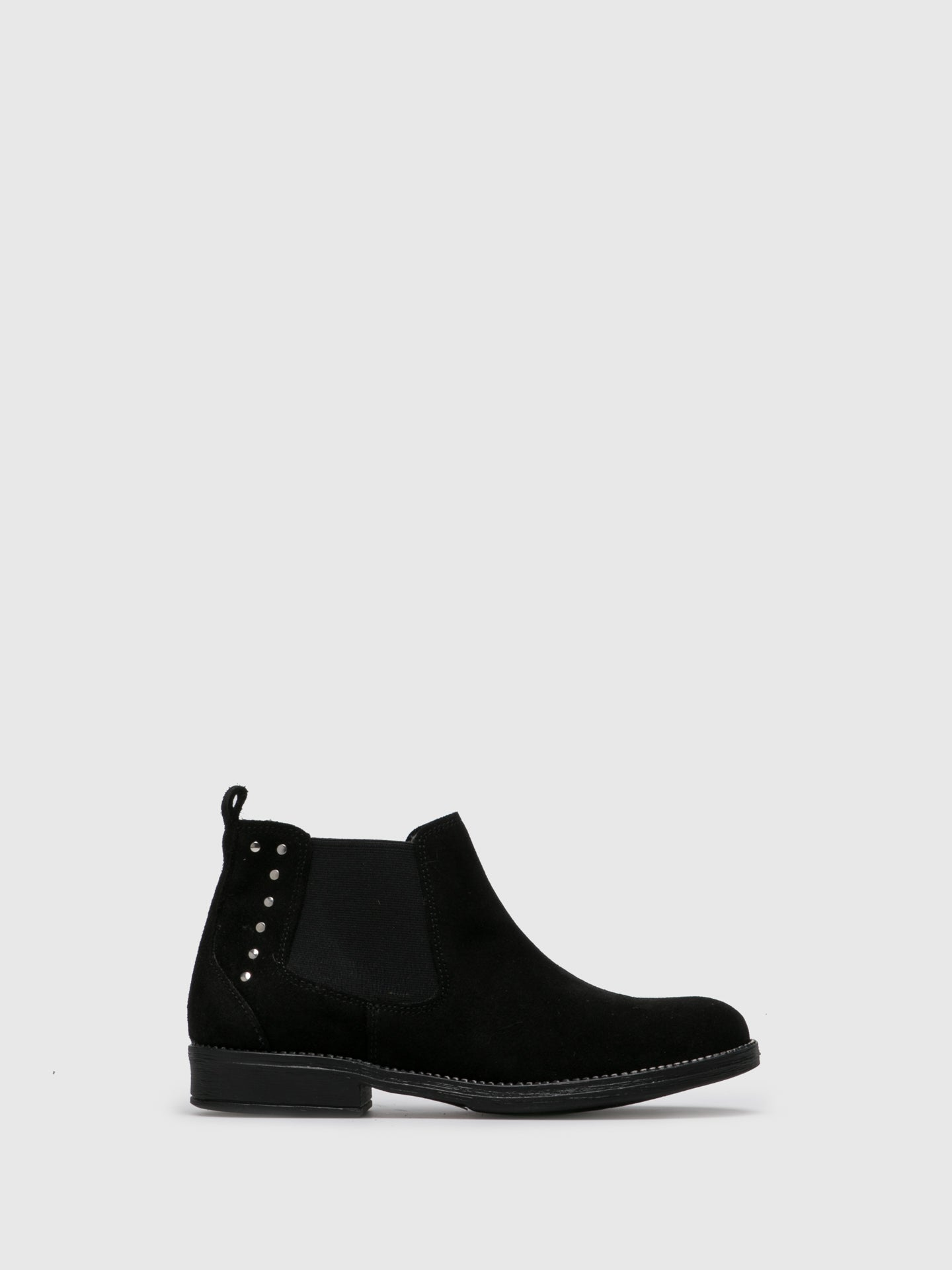 Sotoalto Black Elasticated Ankle Boots