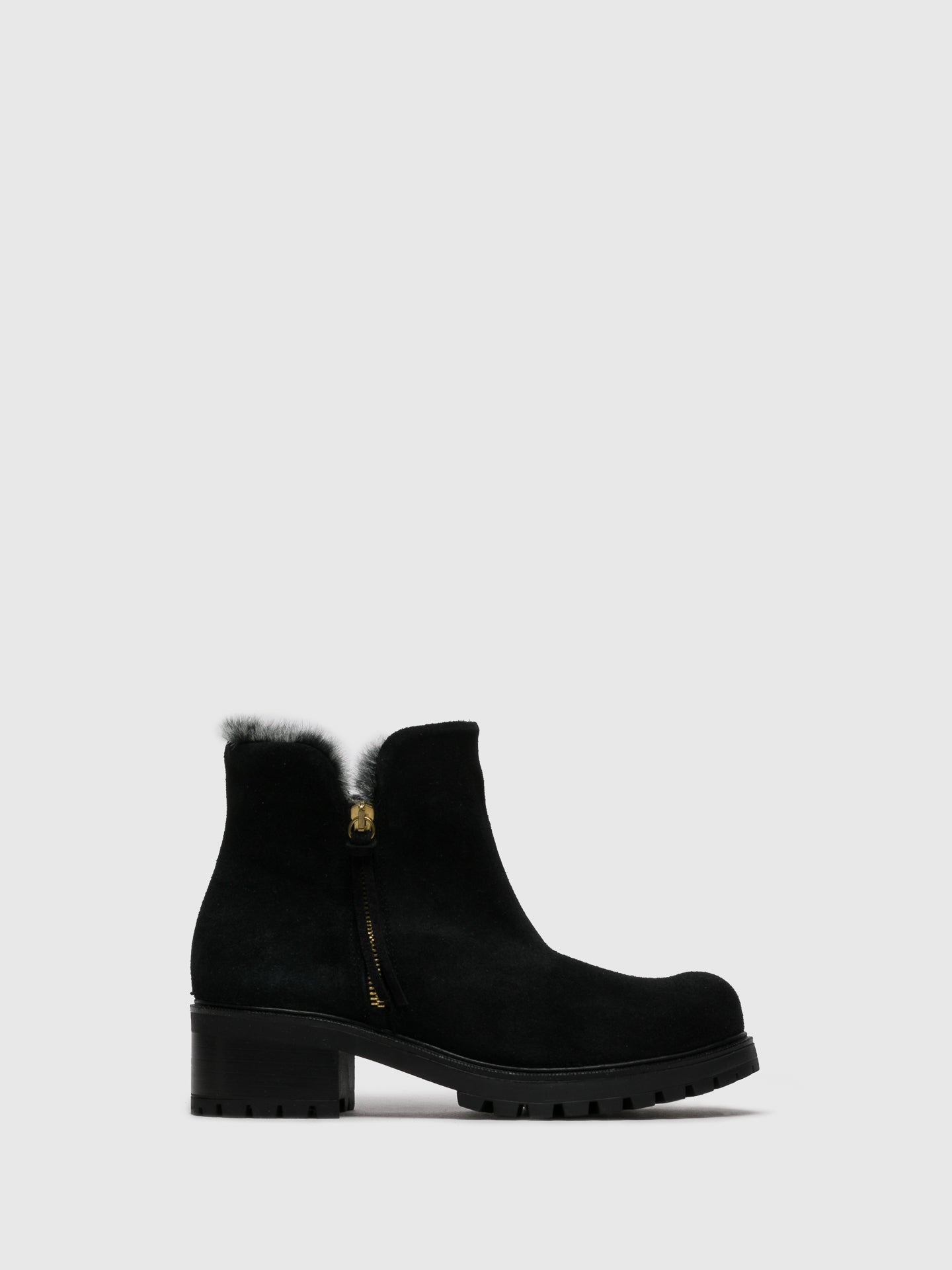 Sotoalto Matte Black Zip Up Ankle Boots