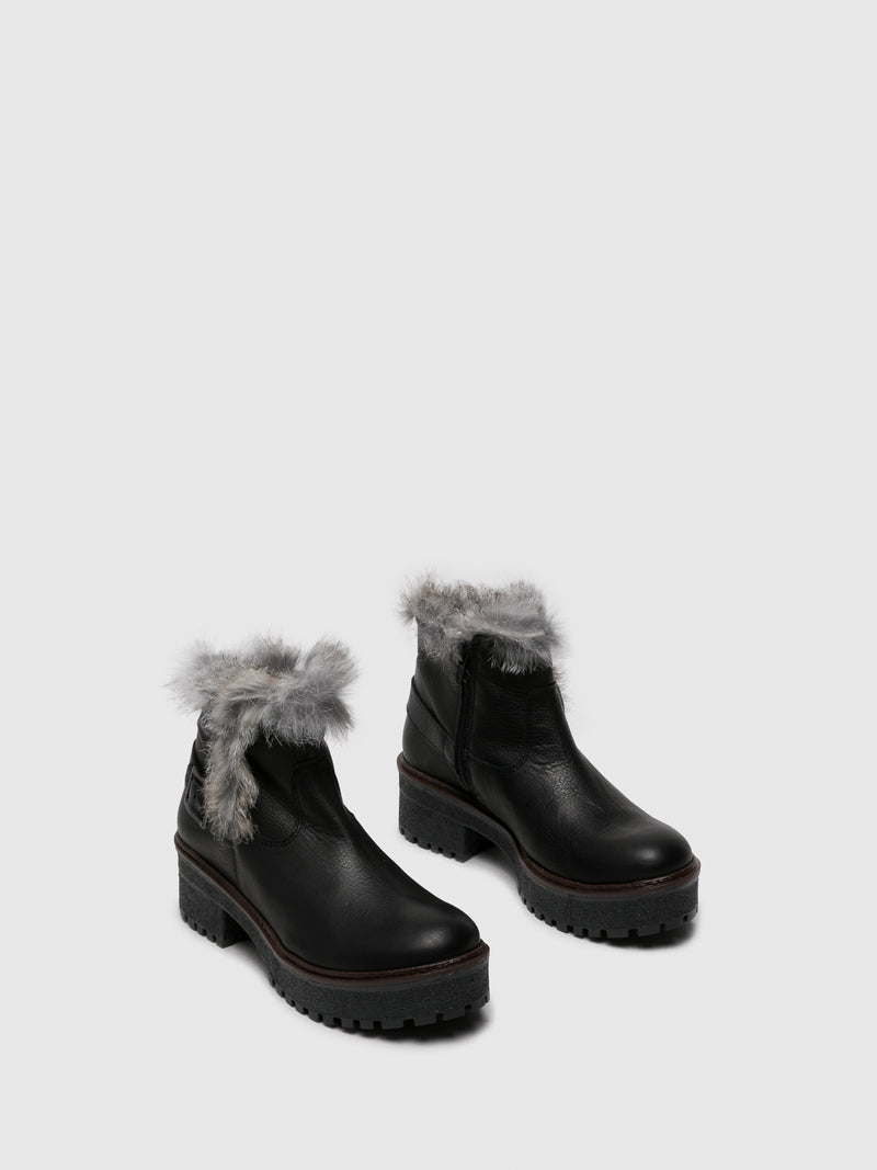 Sotoalto Black Zip Up Ankle Boots