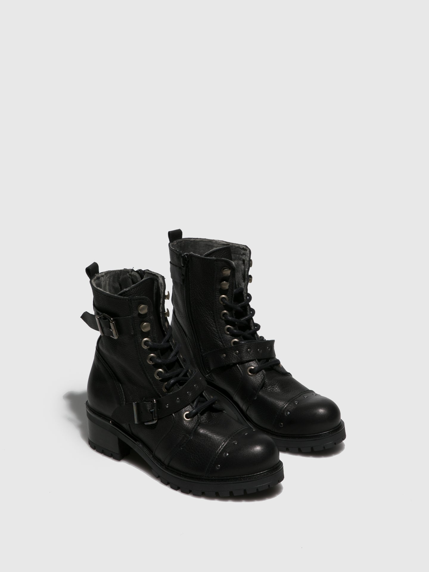 Sotoalto Black Lace-up Boots