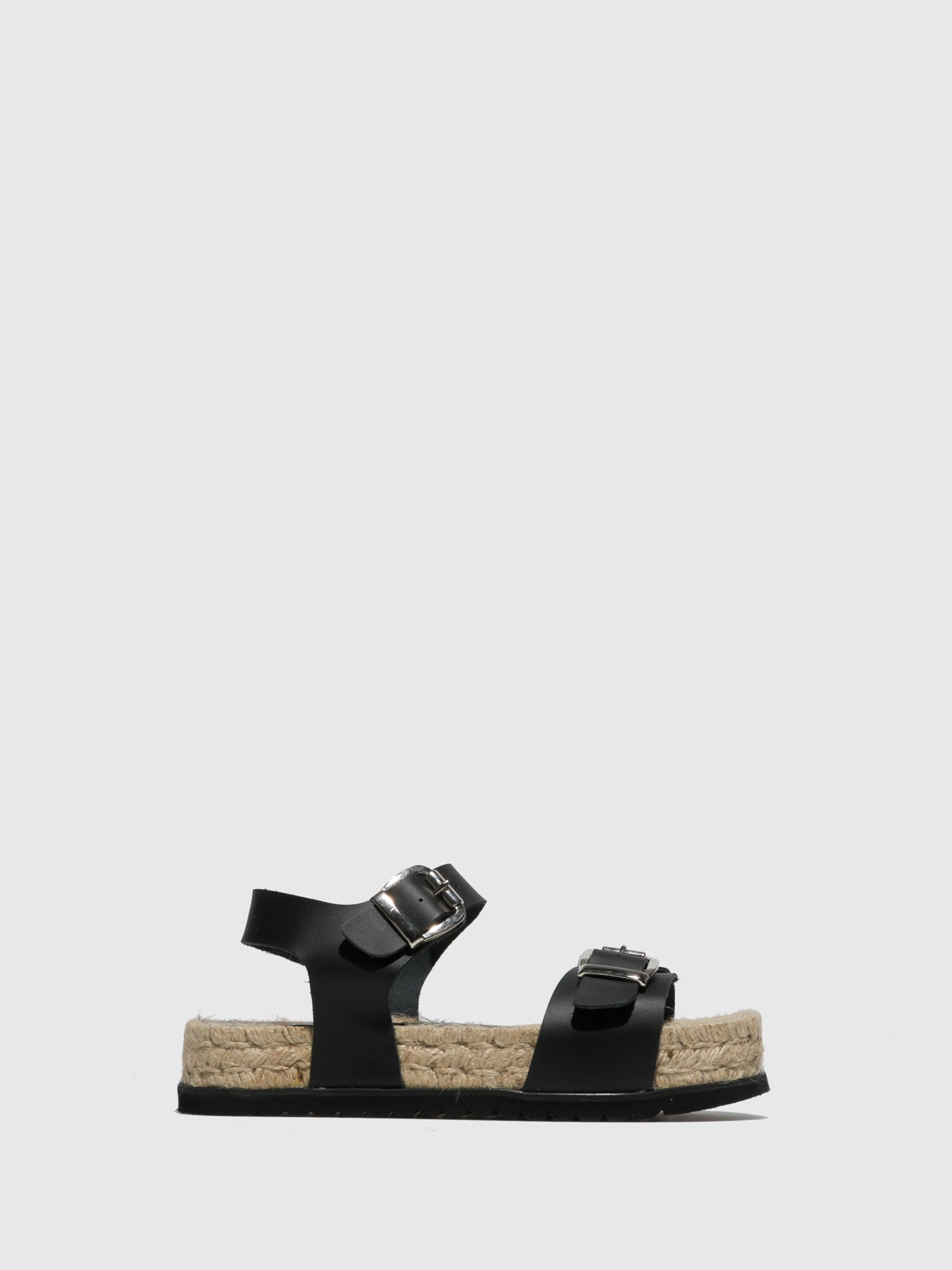 Sotoalto Black Buckle Sandals