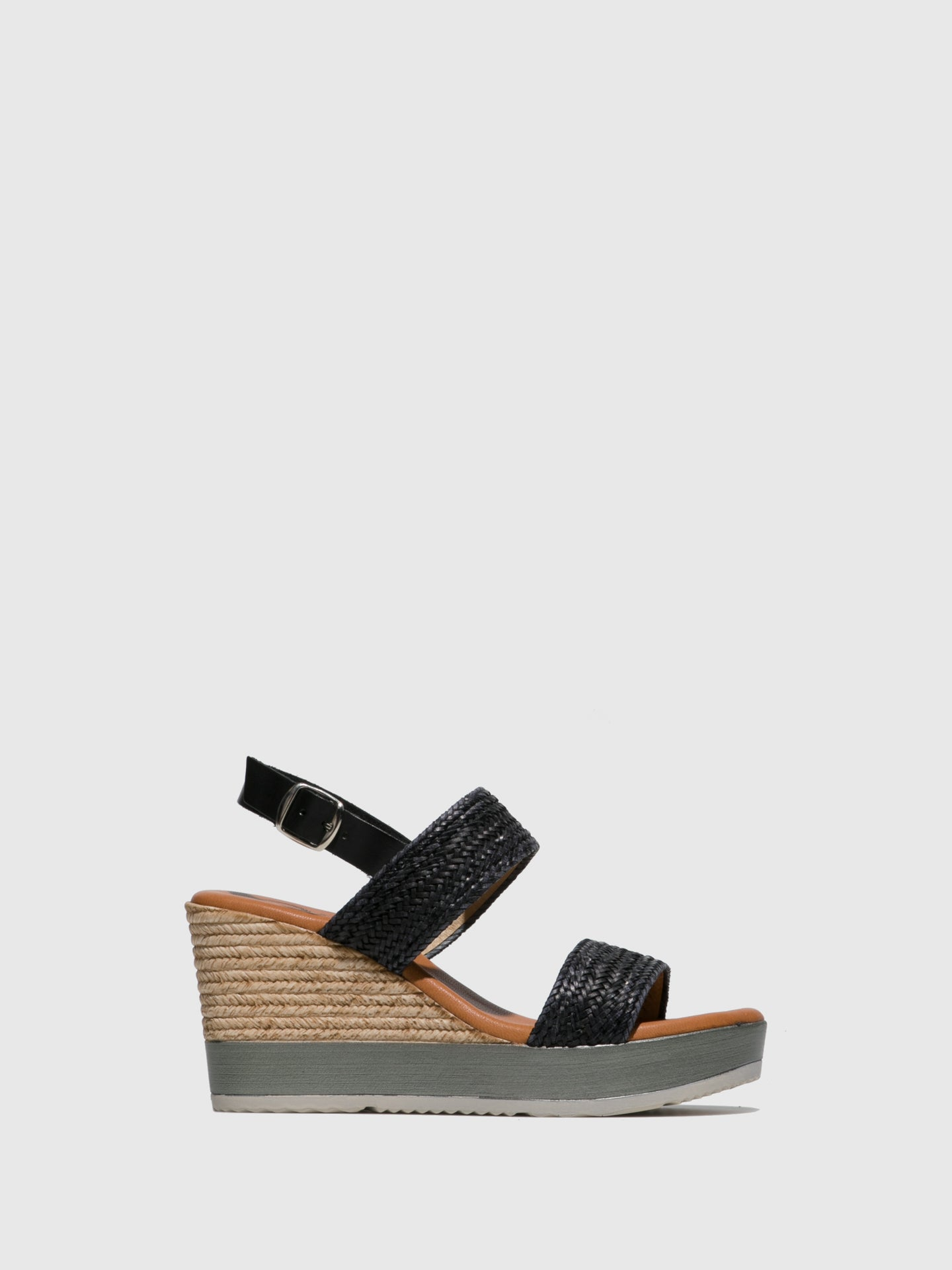 Sotoalto Black Wedge Sandals