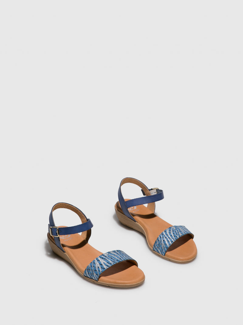 Sotoalto Blue Buckle Sandals