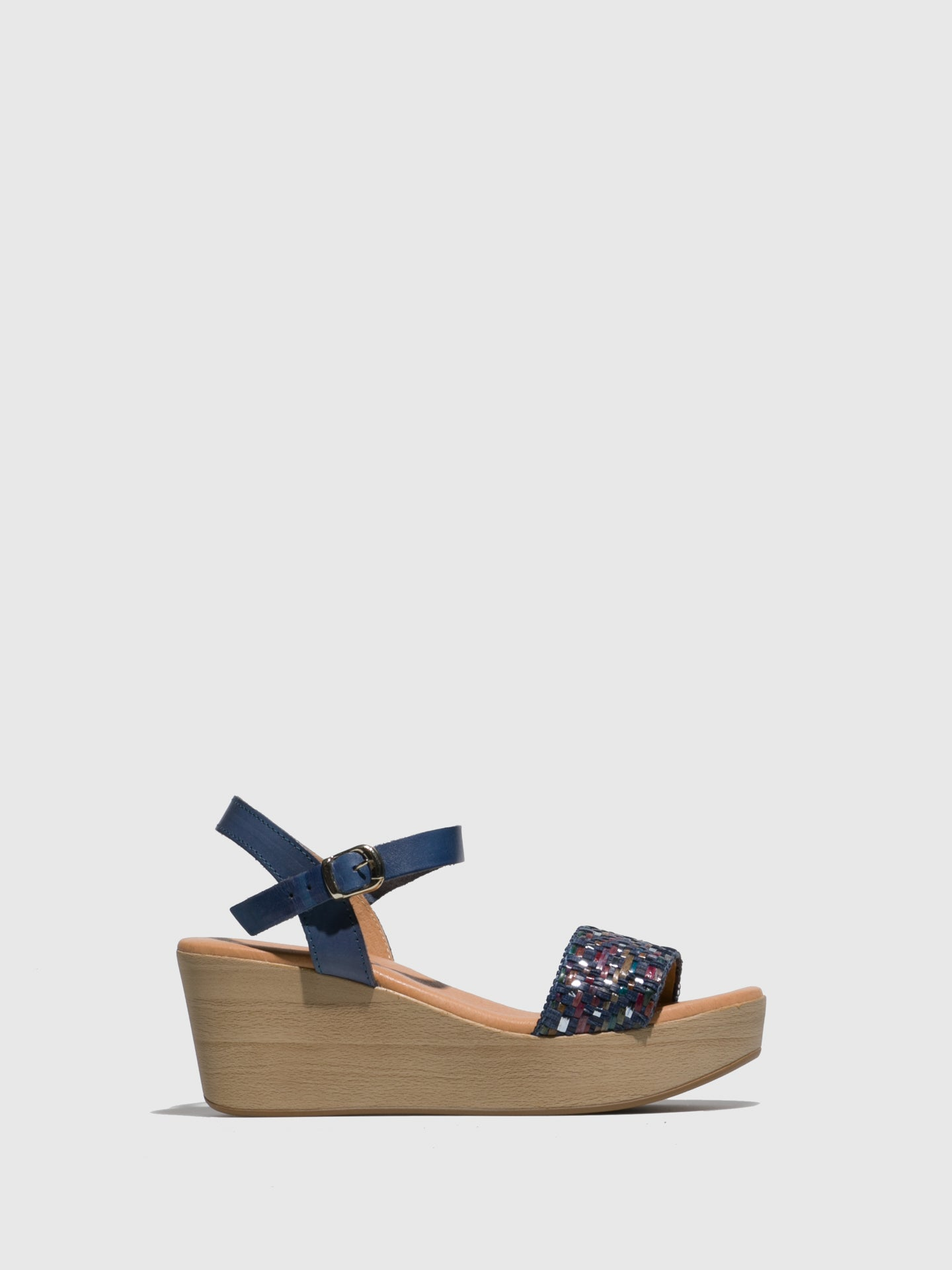 Sotoalto Blue Wedge Sandals