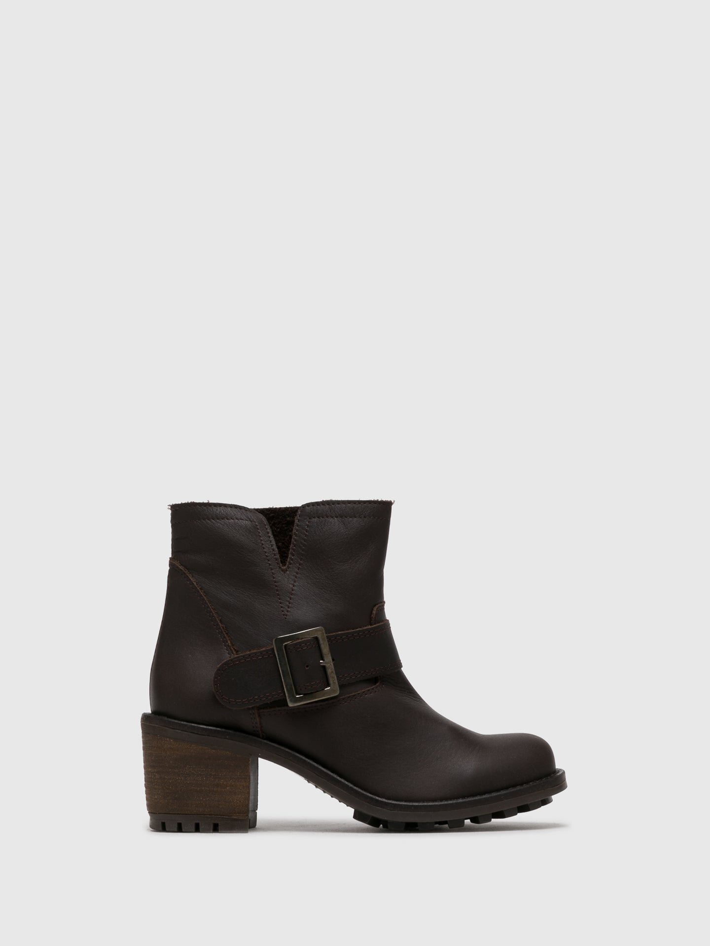 Sotoalto Brown Buckle Ankle Boots