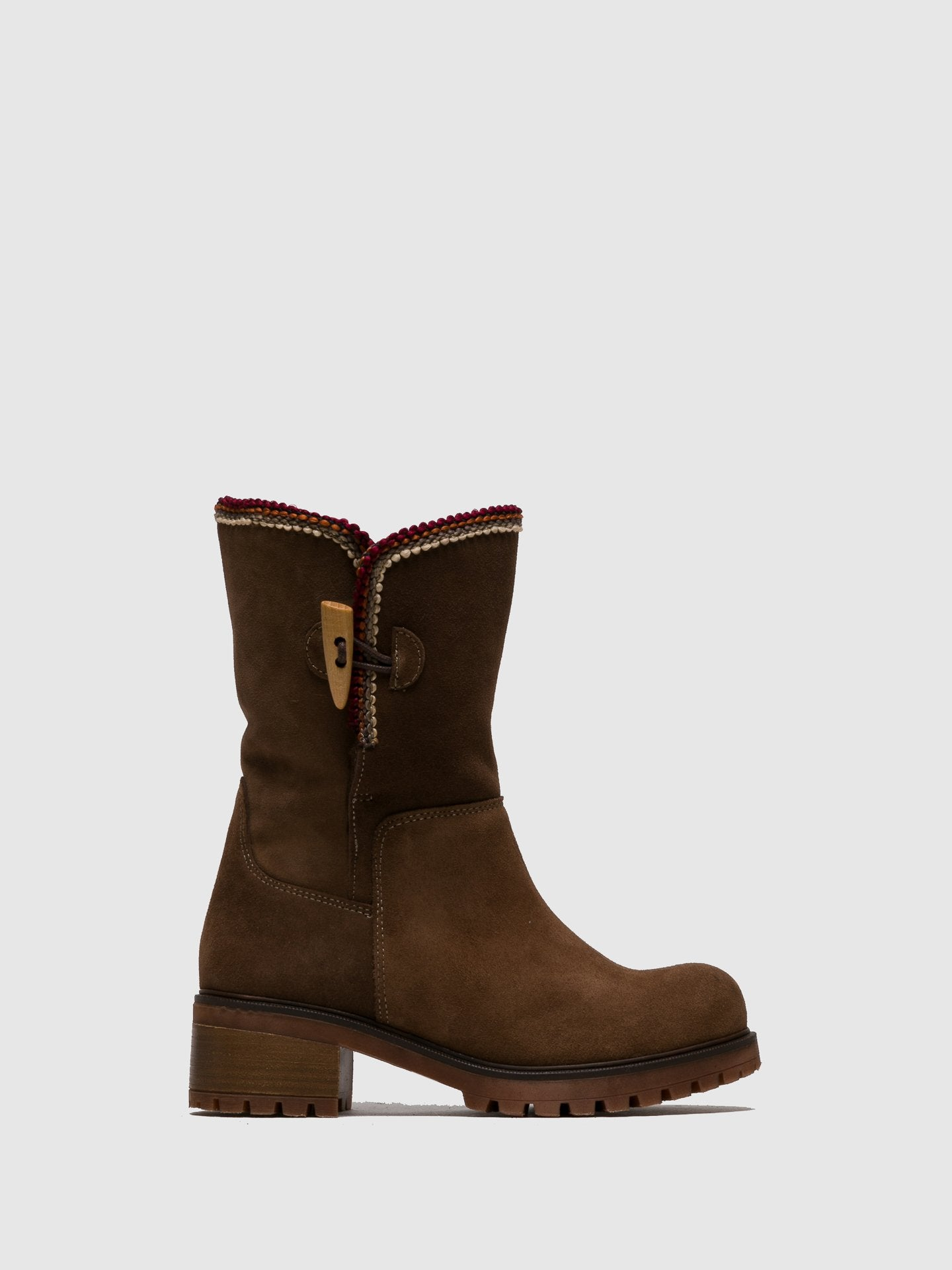 Sotoalto Brown Suede Round Toe Boots
