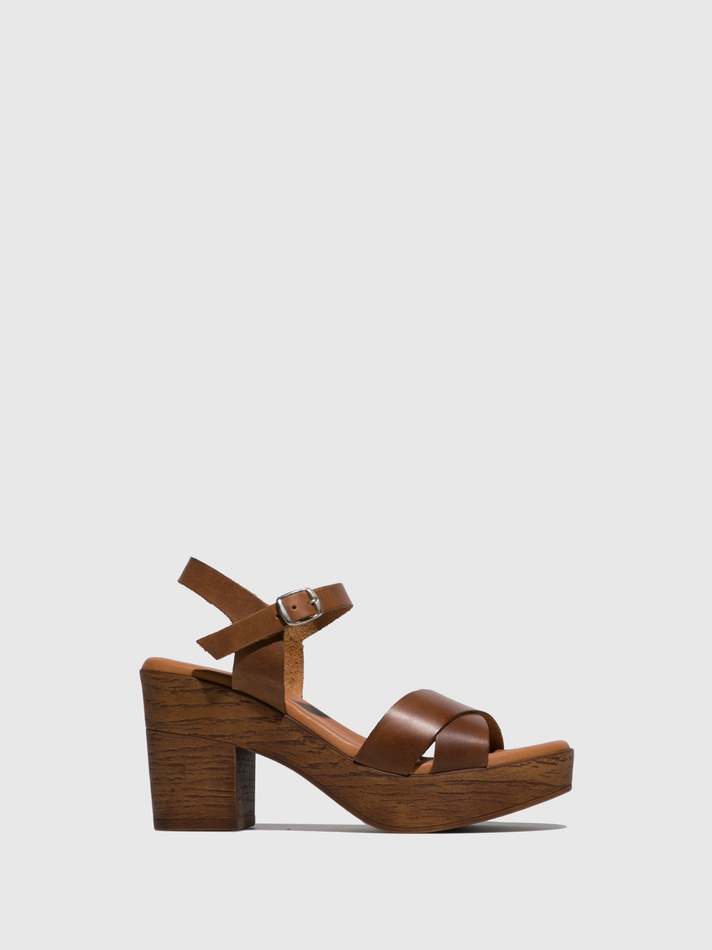 Sotoalto Brown Leather Buckle Sandals