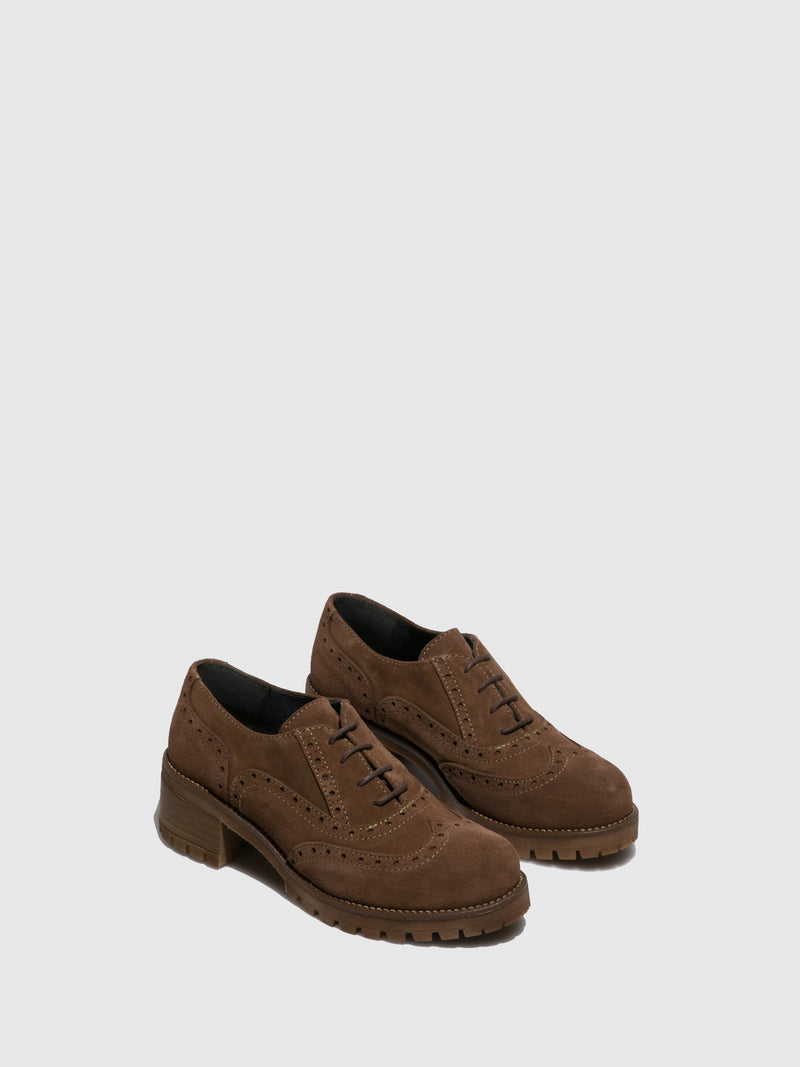 Sotoalto Taupe Lace-up Shoes