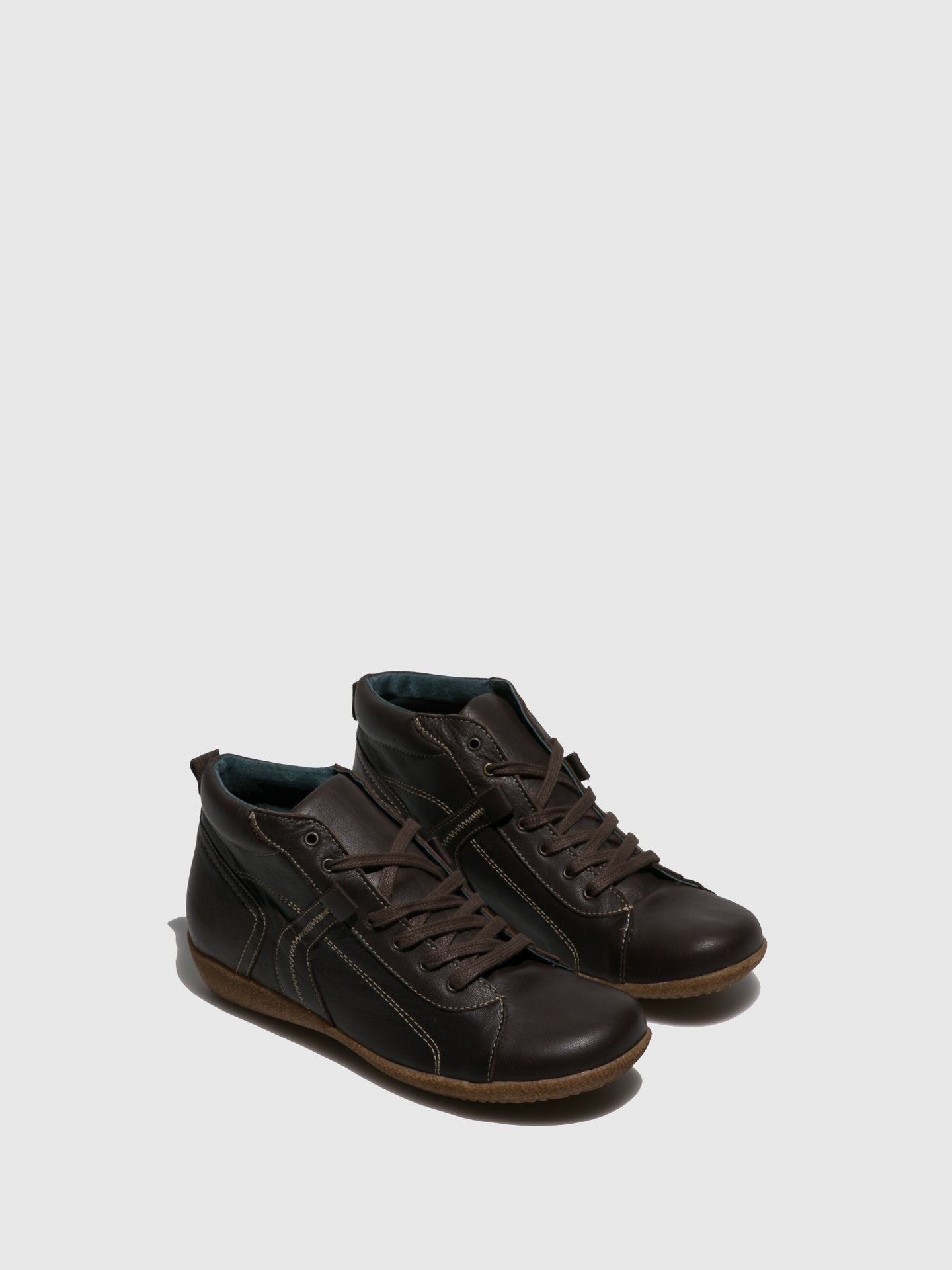 Sotoalto Brown Lace-up Trainers
