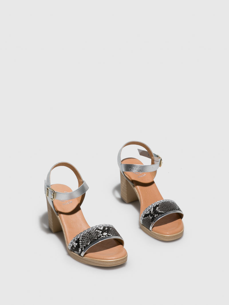 Silver Round Toe Sandals