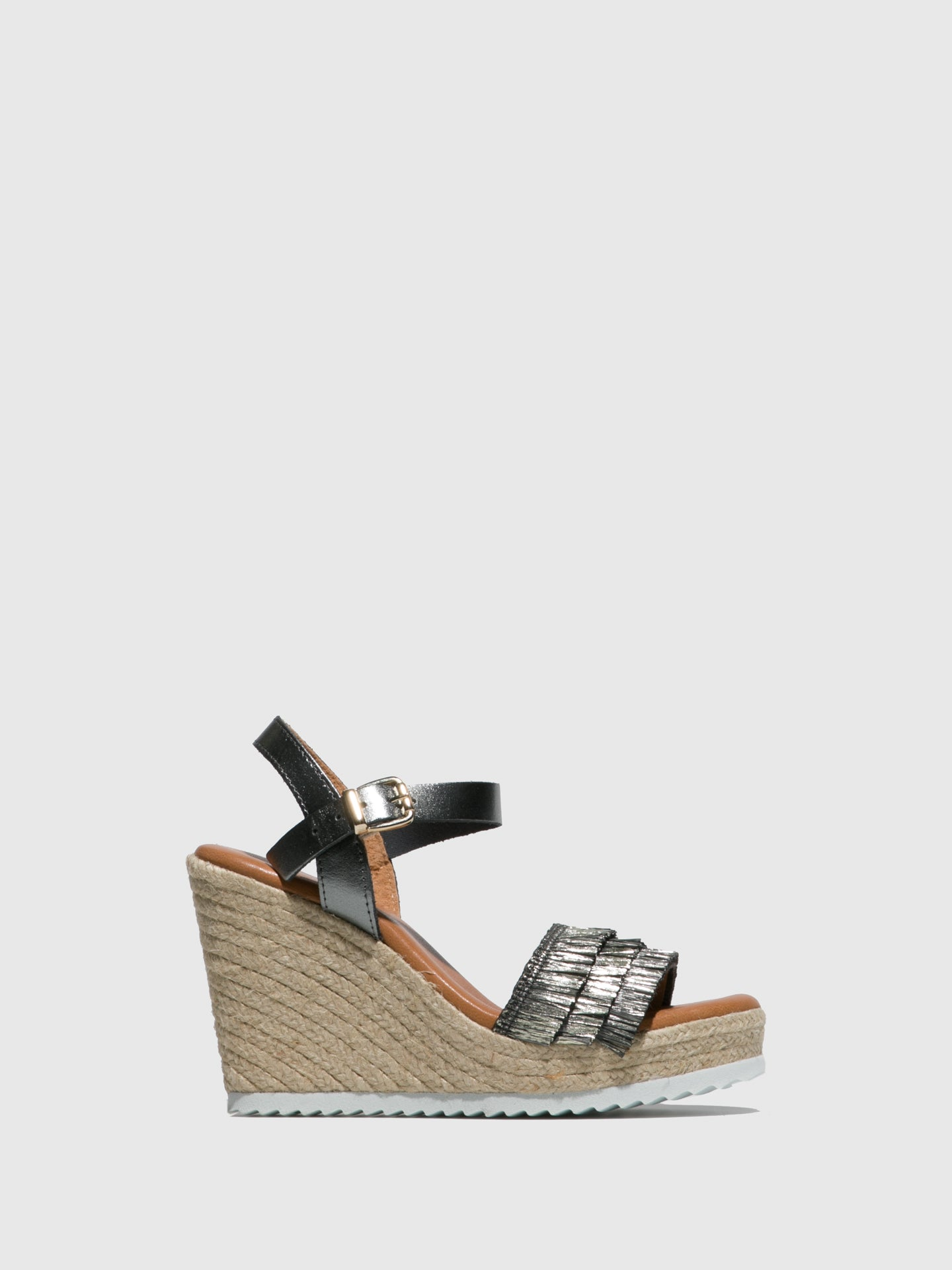 Sotoalto DarkGray Wedge Sandals