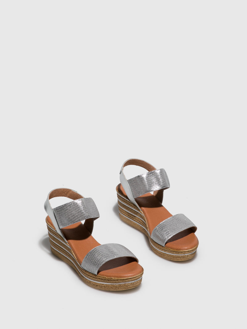 Silver Wedge Sandals