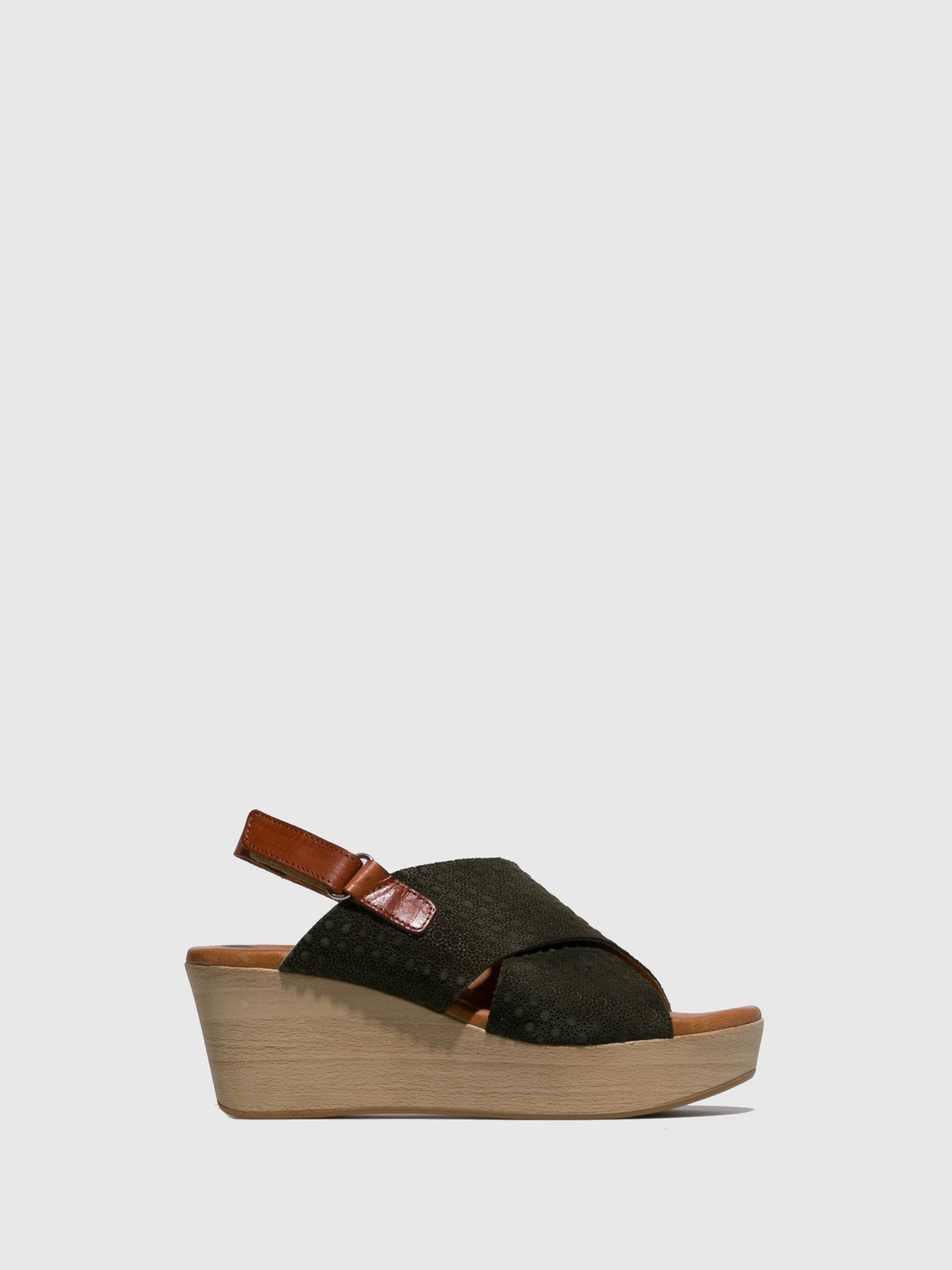 Sotoalto Olive Wedge Sandals