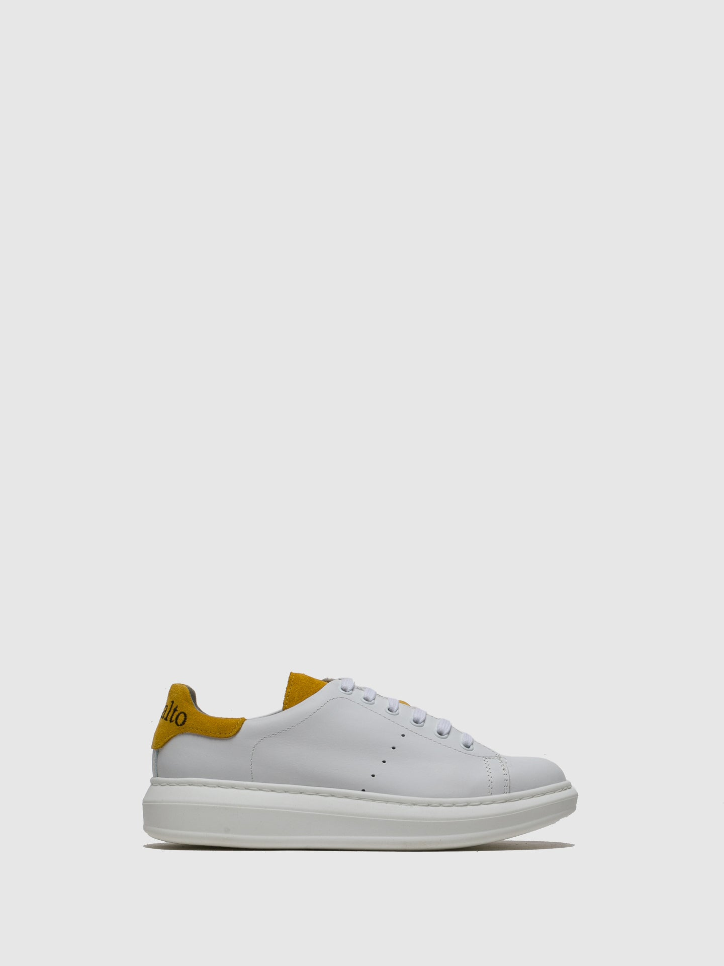 Sotoalto Yellow White Lace-up Trainers