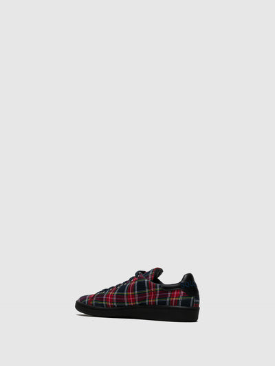 Sotoalto Red Black Lace-up Trainers