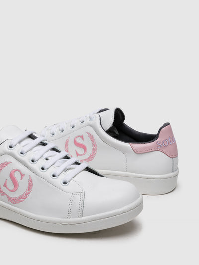Sotoalto Pink White Lace-up Trainers