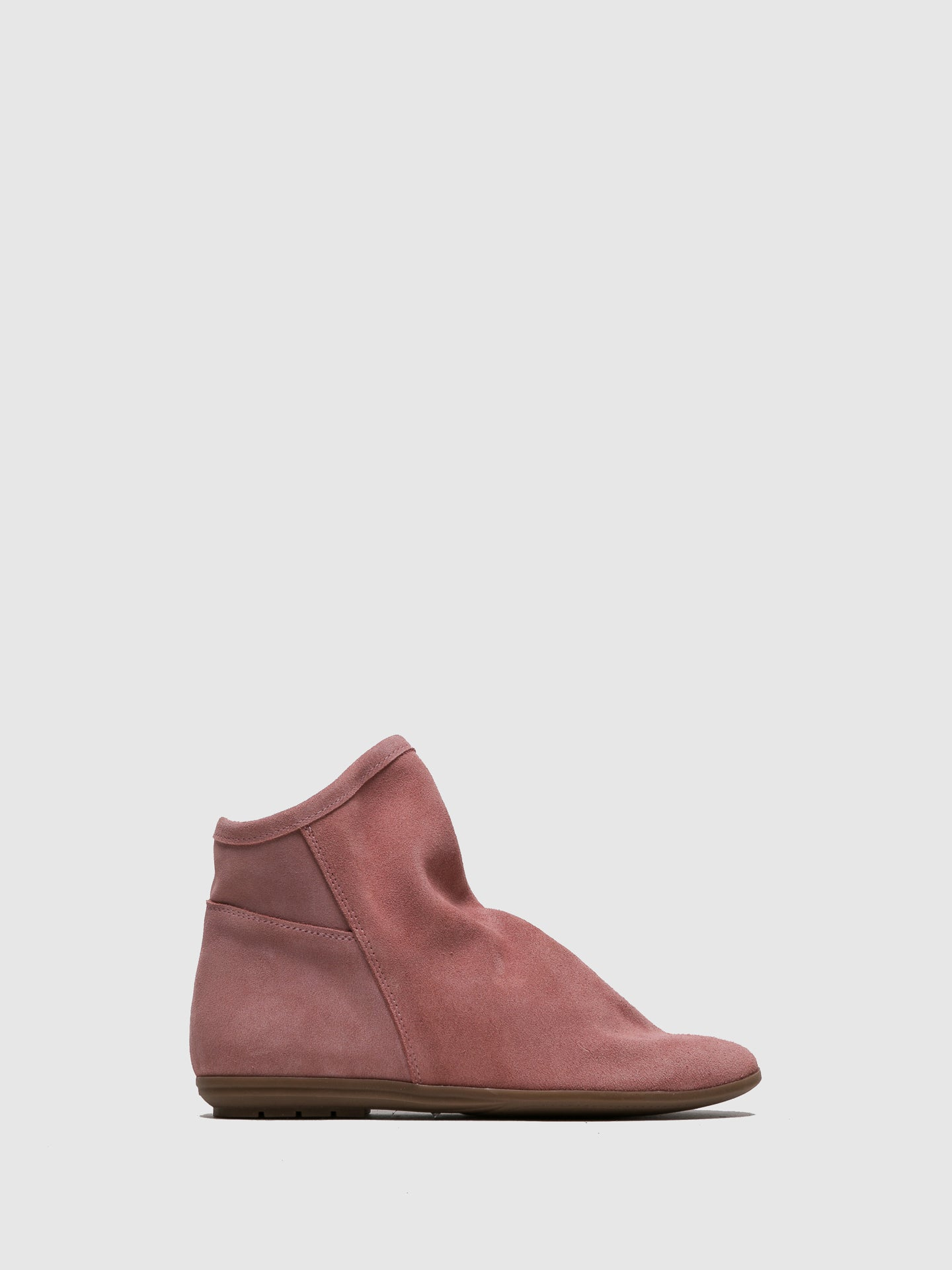 Sotoalto Pink Round Toe Ankle Boots