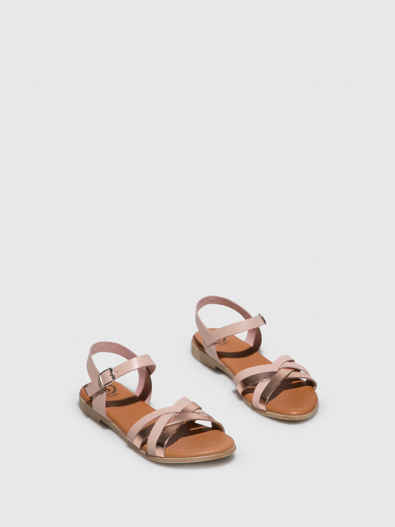 Pink Buckle Sandals