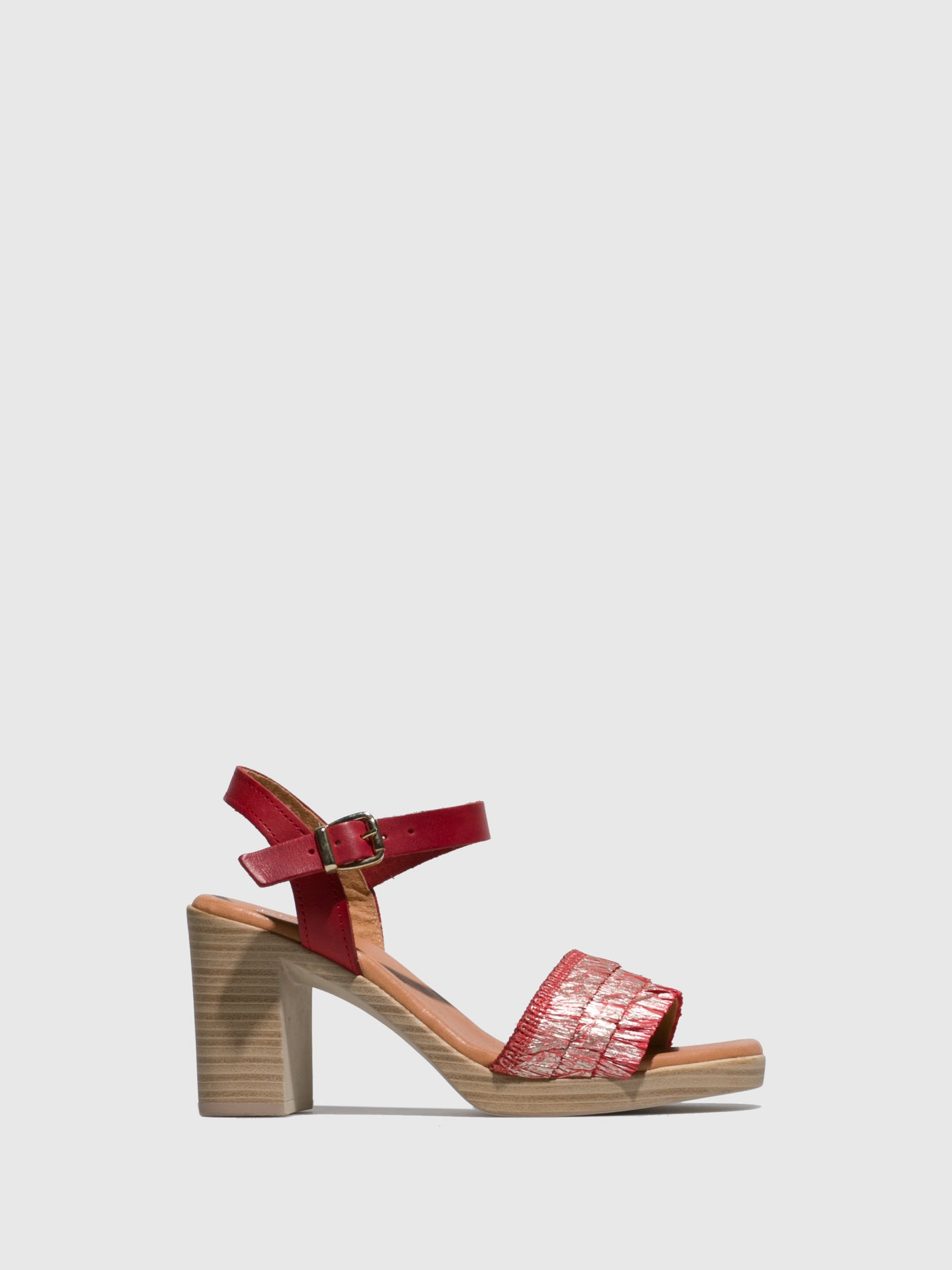 Sotoalto Red Round Toe Sandals