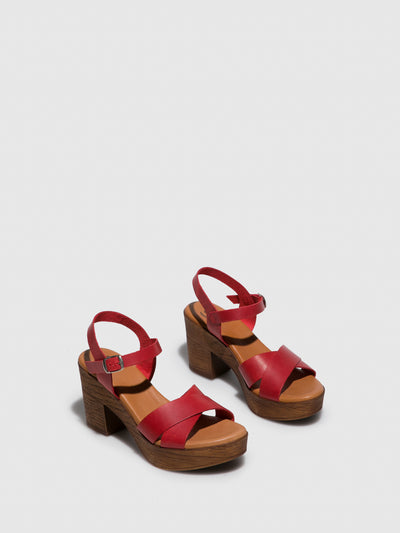 Sotoalto Red Buckle Sandals