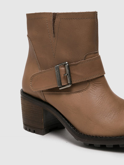 Sotoalto Tan Buckle Ankle Boots