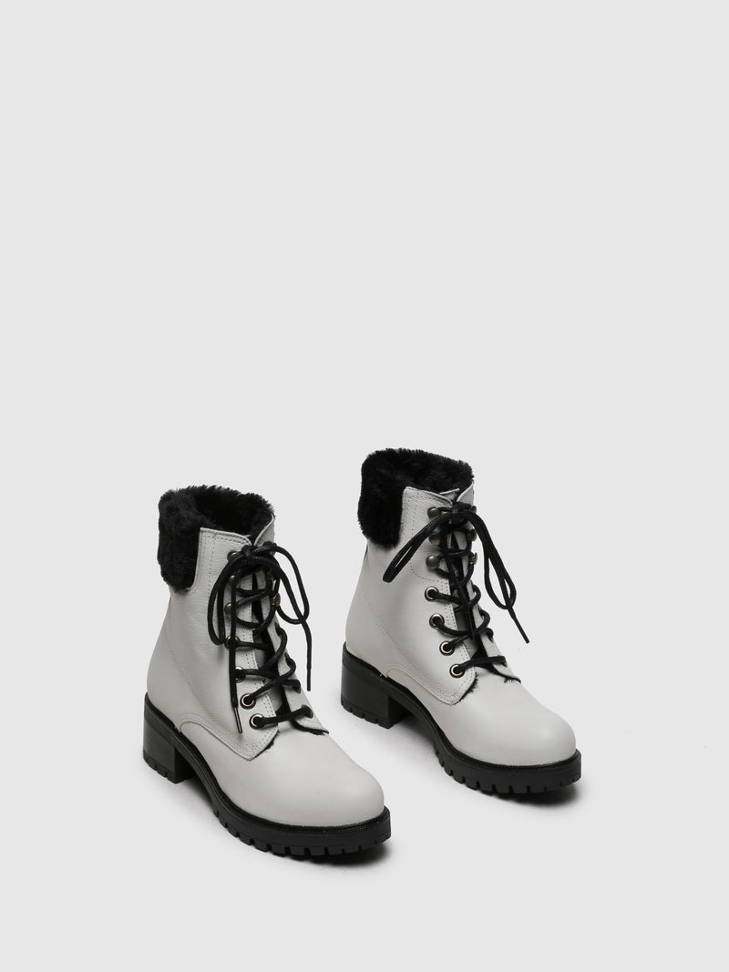 White Tractor Boots