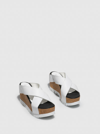 Sotoalto White Wedge Sandals