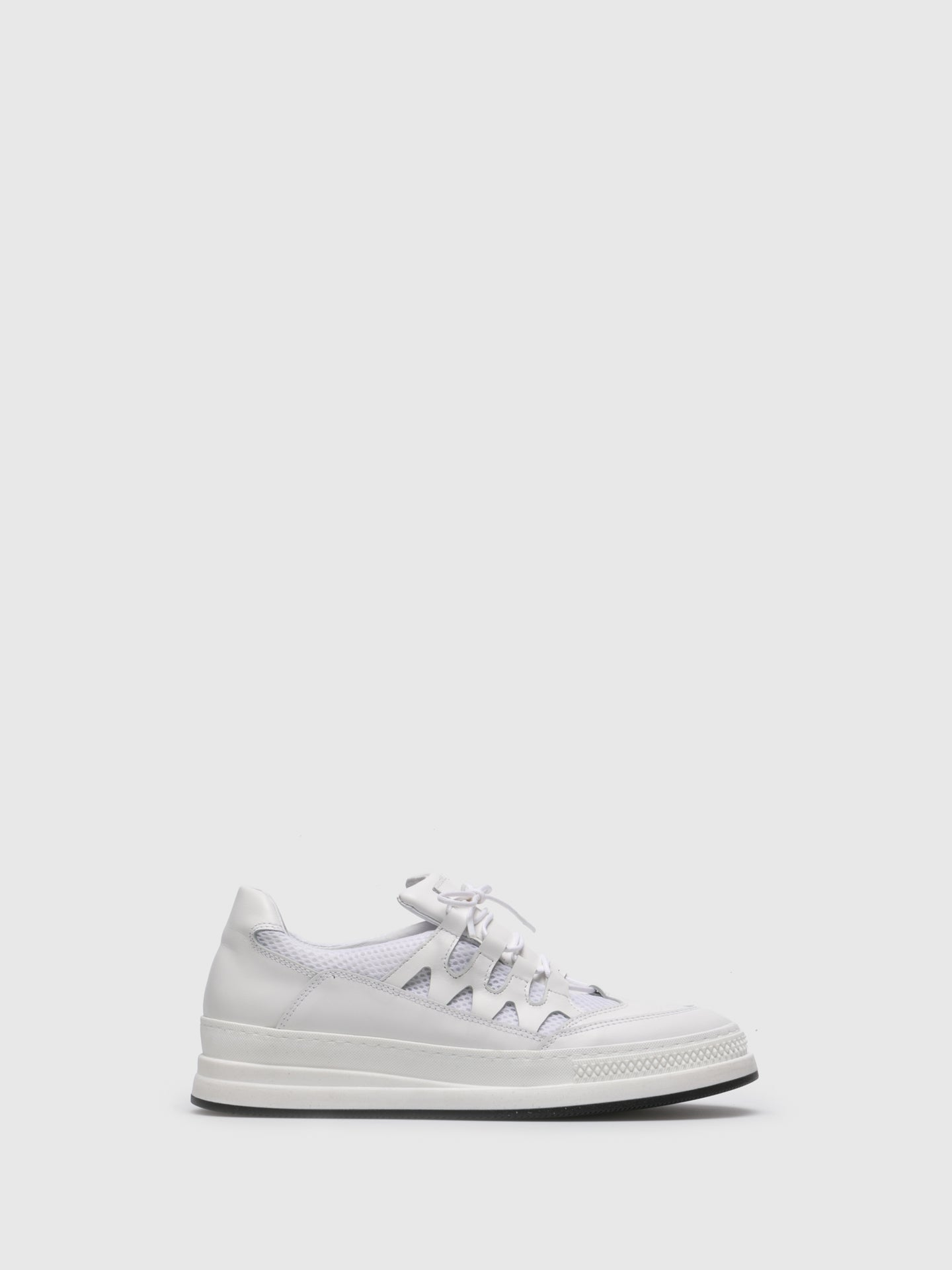 Sotoalto White Lace-up Trainers