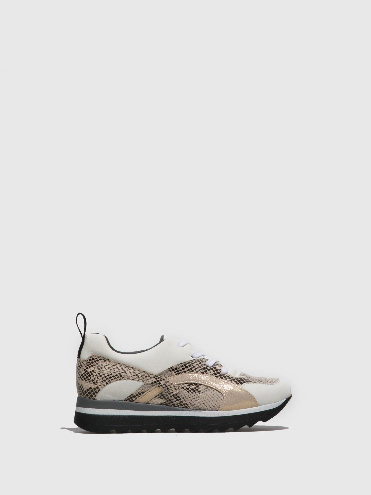 Sotoalto Beige Lace-up Trainers