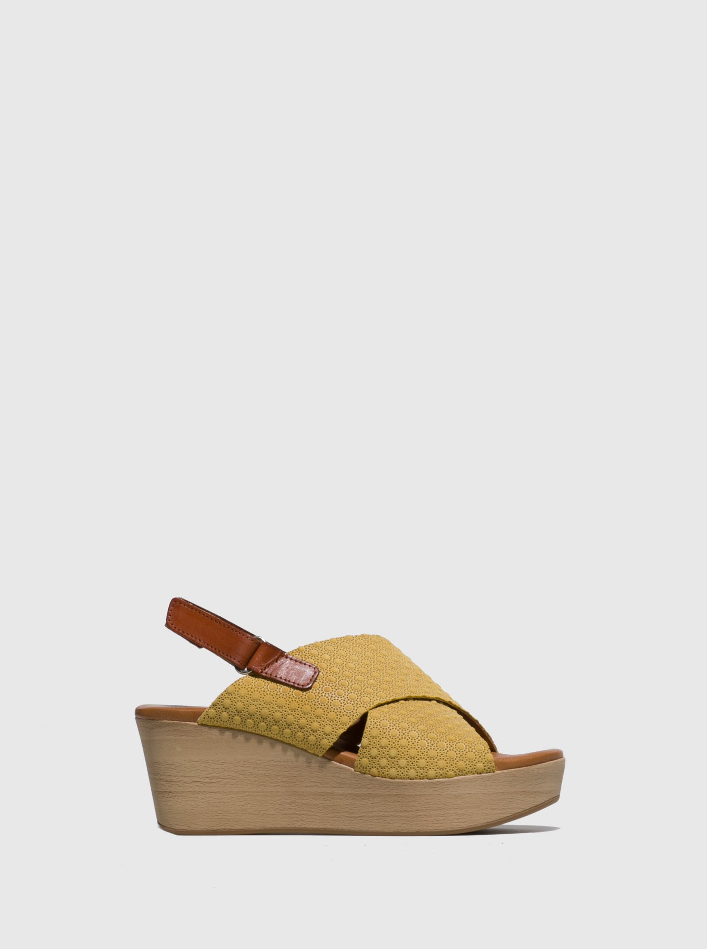 Sotoalto Yellow Wedge Sandals