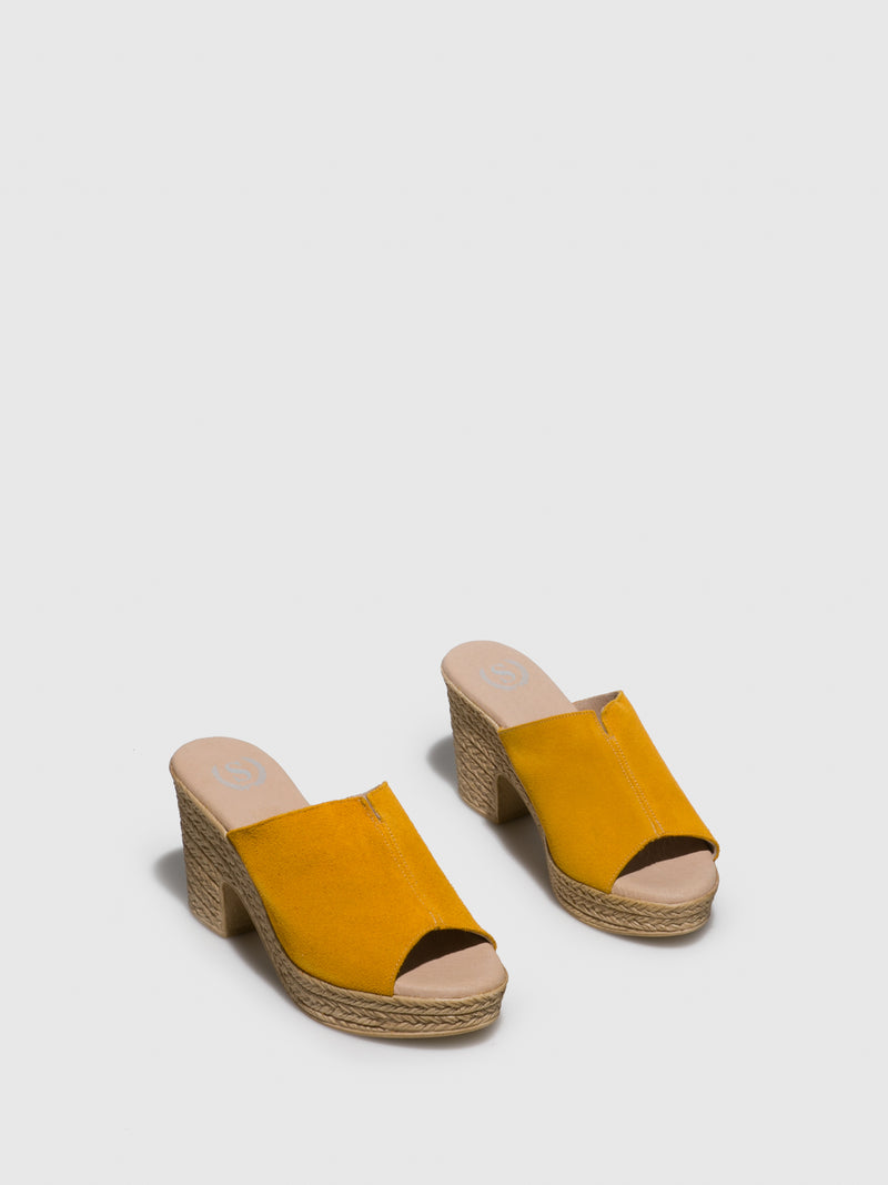 Yellow Round Toe Sandals