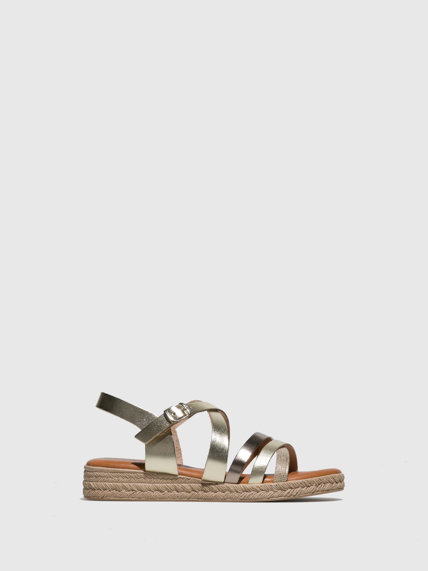 Sotoalto Gold Buckle Sandals